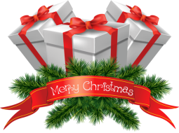 transparent_merry_christmas_presents_clipart